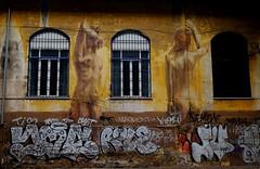 Murales (Giulio Buonomini) Tags: murales street art writers graffiti muro rome roma disegni peint pittura colors colori giallo
