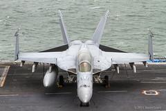 166637 AJ-211 F/A-18F VFA-213 (Sonic Images) Tags: cvn77 uss george h w bush air wing aircraft carrier us navy 166637 aj211 fa18f vfa213 super hornet black lions