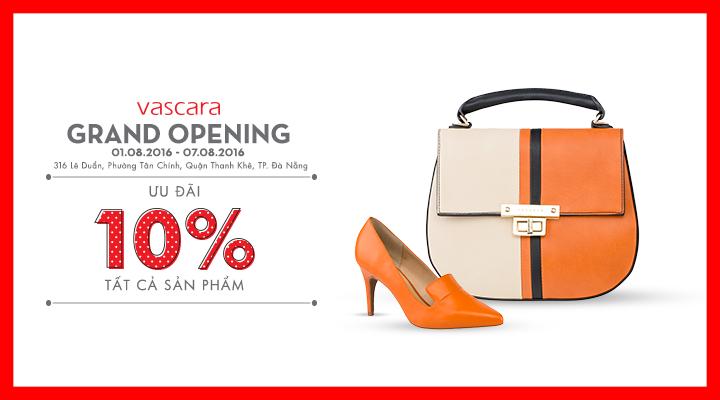Grand Opening Vascara Đà Nẵng - Ưu đãi 10% tất cả sản phẩm