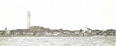 Provincetown MA (CapeCawder) Tags: photoart capecod topazimpression provincetown pilgrimmonument landmark topaztextureeffects digitalphotoart ononeperfecteffects landscape