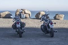 23D Bros (wadetaylor) Tags: motorcycle sr400 yamaha cafe racer tracker scrambler pch pointmugu biltwell gringo helmet beach ocean shore coast