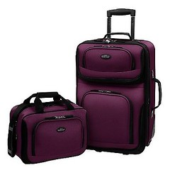 Carry-on Rio Purple Rolling Lightweight Expandable Suitcase Tote Bag Luggage Set (wupplestravel) Tags: carryon expandable lightweight luggage purple rolling suitcase tote