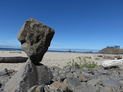 balanced on the beach (carolyn_in_oregon) Tags: oregon pacificocean ecolastatepark coast crescentbeach