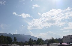 The enormous sky of Abbottabad. (Somersaulting Giraffe) Tags: outdoor clouds blue white sky halcyondays ngc abbottabad