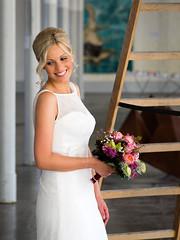 Beautiful Bride (guido.elting) Tags: kubaai bocholt herding braut wunderschn kleid blumen leiter sulen halle industrie textil pillar weiss white flowers ladder blond blonde