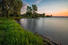 Mendota Lakeshore (gauss5050) Tags: madison lakemendota mendota longexposure sunset landscape urbanlandscape wisconsin tenney park tamron nikon
