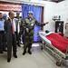 Goma, Province du Nord Kivu, RD Congo : Le Secrétaire général adjoint de l'ONU à l'appui aux Missions, M. Atul Khare,  a  visité l'hôpital  de la MONUSCO qui a récemment reçu les cas les plus critiques des  Sud-Soudanais extraits du Parc national de la Ga