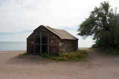Abandoned building (kailhen) Tags: sandstone building abandoned seaside teignmouth devon tree sand