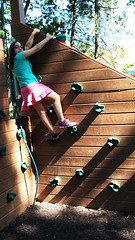 CLIMBING THE WALL AT THE PLAYGROUND (Visual Images1) Tags: angeline granddaughter climbing wall hww wednesday