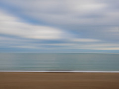 Hayling Island Seascape - camera panning (fstop186) Tags: haylingisland seascape panned panning sky sea sand beach movement icm intentionalcameramovement clouds
