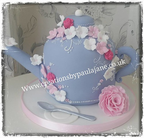 Fantastic Teapot Birthday Cake A Photo On Flickriver Personalised Birthday Cards Cominlily Jamesorg