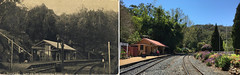 Comparison 1907 and 2016 - Spring Bluff Railway Station, Qld (Aussie~mobs) Tags: springbluff queensland railway station heritage vintage australia toowoomba historic 1907