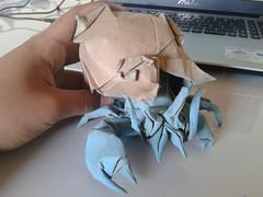 Hermit Crab-Satoshi Kamiya (javier vivanco origami) Tags: origami ica peru javier vivanco hermit crab satoshi kamiya