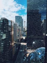 Seattle (mlee525) Tags: spaceneedle seattle southlakeunion amazon iphone washington downtown city buildings