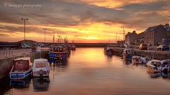 Sunset harbour... (moraypix) Tags: red burgheadharbour sunsetharbour burghead pastelsunset boats sunsetboats harbour morayfirth nikond750 nikon2485lens moraypixphotography jimmacbeath sunsetglow