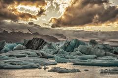 Icy sunset (jpw81) Tags: jkulsrln iceland ice island glacierlagoon glacier gletscher sunset clouds