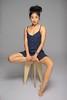 K (Fufurasu) Tags: portrait woman feet girl beautiful studio asian japanese pretty dress legs chinese longhair polkadots portraiture barefoot actress actor stool 500d hairup