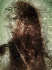 Veils (Sarah Jarrett) Tags: portrait selfportrait slowshutter iphoneart iphoneography