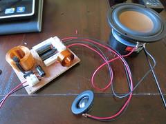 Testing crossovers (burritobrian) Tags: diy speaker boombox overnightsensations speakerbuild sd215a88
