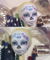 Glitter fairy? (Amber-Honey) Tags: monster skull amber high mod doll ooak cam ghost sugar honey create custom catrina mattel calavera repaint