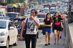 Bangkok street pedestrian (Manuel.A.69) Tags: urban bus thailand google nikon flickr traffic bangkok cab taxi pollution thai metropolis circulation urbanjungle ville congestion citta thailande trafic trafico taximeter mtropole  d90 5photosaday nikkor18200vr  nikond90
