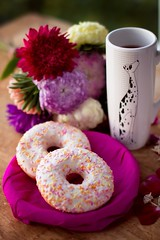 Tea (marie_tsy) Tags: morning flowers sunset red summer food flower cute love cup nature coffee evening spring pretty cookie tea sweet air violet romantic foodstyling