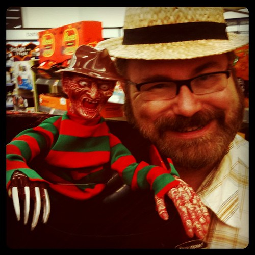Freddy Krueger Animated Talking Candy Bowl Spotted @Walgreens by Mike Mozart for Halloween! The head has some really impressive movements and a scary voice!