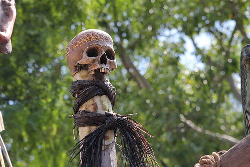 A Tribal skull on a stick