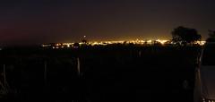 Vista de Santa Fé do Sul à noite