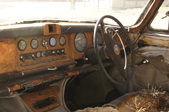 Jaguar MkX dashboard (ToBoote) Tags: wooden jaguar dashboard steeringwheel 420g markx