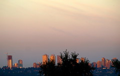 SUNRISE REFLECTIONS (ikan1711) Tags: skyline sunrise skies cities burnaby metrotown cityskyline cityscene highrisebuildings morningcity morningscene sunrisecity metrotownburnabybc sunlitcity