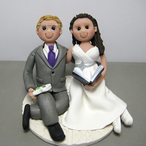 clay wedding cake toppers wedding cake topper handmade using polymer clay a photo 12879