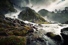 Låtefoss (Youronas) Tags: nature water norway river landscape waterfall wasserfall natur skandinavien norwegen fluss landschaft hordaland låtefoss låtefossen