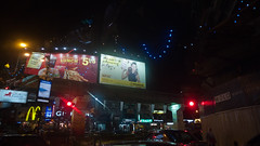 Billboards (jenschuetz) Tags: street nightphotography travel vacation holiday motion blur southeastasia driving traffic malaysia neonlights nightlife kualalumpur aroundtown kl overseas gettinouttadodge
