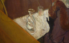 Toulouse-Lautrec, At the Moulin Rouge with detail of still life