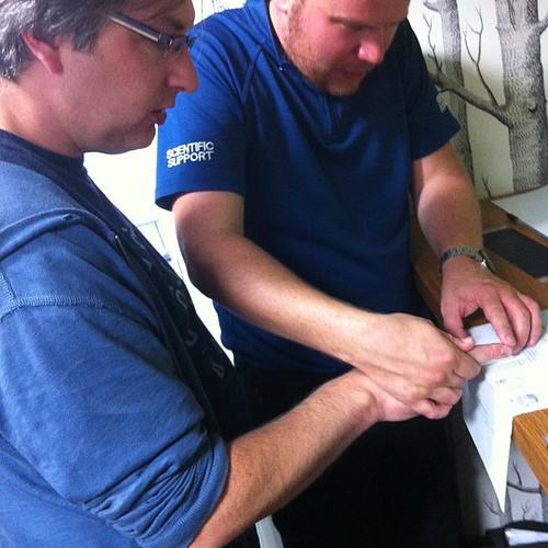 Getting fingerprinted