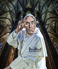IGGY POPE (The PIX-JOCKEY (visual fantasist)) Tags: show music pope art rock photoshop crazy punk joke fake humour fantasy vip photomontage chop caricature draw iggypop fotomontaggi robertorizzato pixjockey