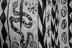 Gurunsi villages, tiebele, south of burkina faso (anthony pappone photography) Tags: africa travel houses bw woman architecture canon design blackwhite village snake painted hut westafrica afrika disegni viaggio burkina burkinafaso decorated afrique sahel geometrie architetture serpente  geometries  tiebele   burkinabe africantribe gurunsi       sukhala