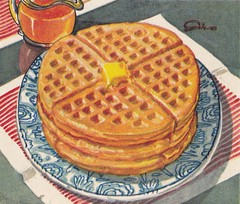 Waffles (briangiwojna) Tags: new cake illustration 1931 book cookbook 1930s cook down swans flour waffles secrets 30s