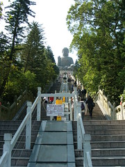 The way up (oldandsolo) Tags: china hk hongkong buddhism bigbuddha lantauisland polinmonastery chinesetemple chineseculture ngongping tiantanbuddha ngongpingbuddha buddhistfaith chinesereligiousshrine largestseatedbronzebuddha