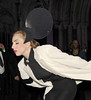 Lady Gaga struts in Philip Treacy at London Fashion Week Spring/Summer 2013 - - Catwalk London, England