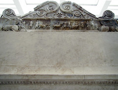 Ara Pacis, left wing, sacrificial altar