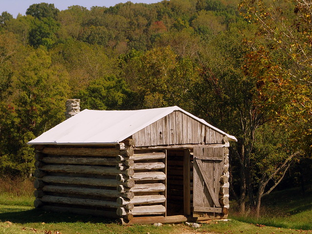 Reconstructed Log Hut - Fort Donelson