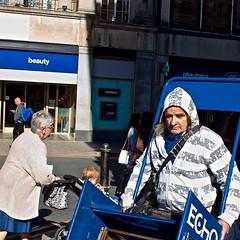 Beauty Blues (Kyre Wood) Tags: newspaper echo gloucestershire vendor cheltenham ef28mmf18usm