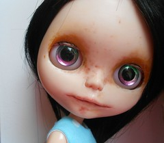 Re-did River's face up, and now she's got a whole new look.