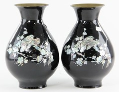 95. Pair of Lacquer ware vases