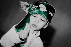 KSA -         #  (Mjnoon.Maha) Tags: light boy portrait baby white black green kids dark kid saudi arabia closer ksa