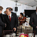 UN Secretary-General Ban Ki-moon greets Sauli Niinistö, President of Finland, at the High-level Lunch Event on Strengthening Women's Access to Justice