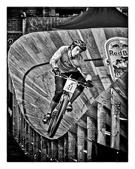 Red Bull Mini Drome Toronto 2012 Race Day 02 (thelearningcurvedotca) Tags: city people urban blackandwhite bw toronto canada motion blur bike bicycle sport race speed fun cards person bicycling cycling cyclists blackwhite movement downtown cyclist power action vibrant extreme transport dramatic fast lifestyle bikes competition blurred bicycles rush cycle biking prints biker bikerace racers athlete rider redbull bicyclerace racer intensity competitor iamcanadian bwemotions bikingtoronto blackwhitephotos true2bw cans2s blackandwhiteonly wwwareamagazinecom bwartaward bikeunion evergreenbrickworks blogtophoto minidrome redbullminidrome dpsdelicate