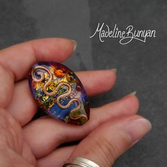 """Silver Glass Focal Bead • <a style=""""font-size:0.8em;"""" href=""""https://www.flickr.com/photos/37516896@N05/8027513006/"""" target=""""_blank"""">View on Flickr</a>"""